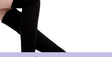 Botas altas negras mujer