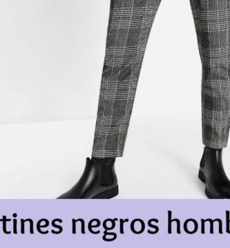 Botines negros hombre
