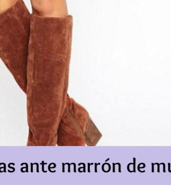 Botas ante marrón de mujer