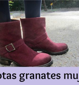 Botas granates mujer