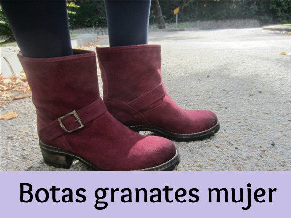 zapatos deportivos 6b4fc 93abc Botas granates mujer - Logra el outfit perfecto - 2botas.com