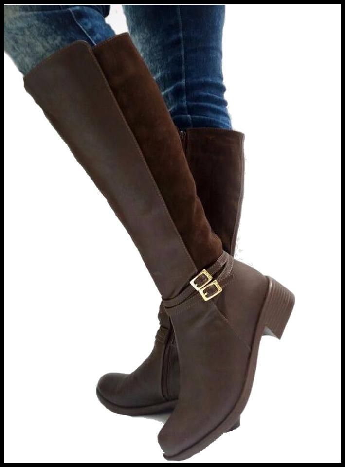 hibote Botas de caña Alta para Mujer Botas de Montar de